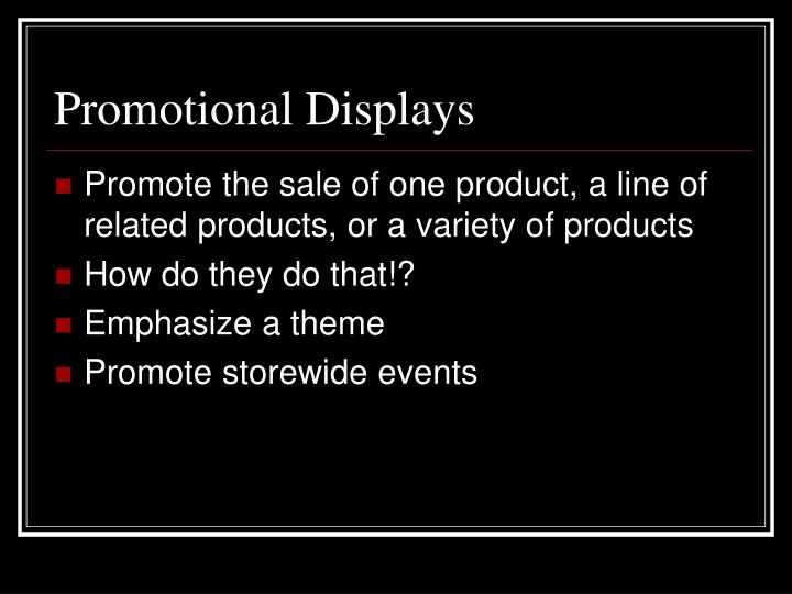 Promotional Displays