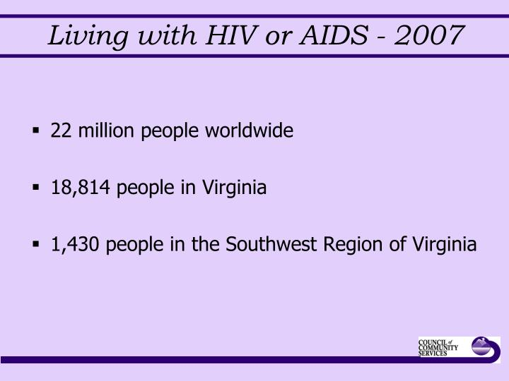 Living with hiv or aids 2007
