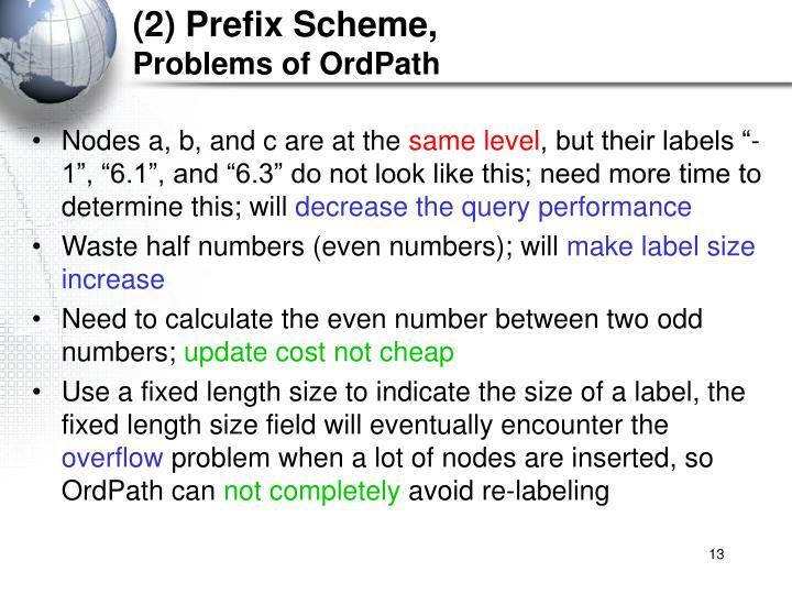 (2) Prefix Scheme,