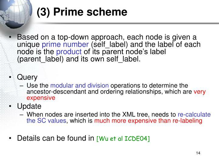 (3) Prime scheme