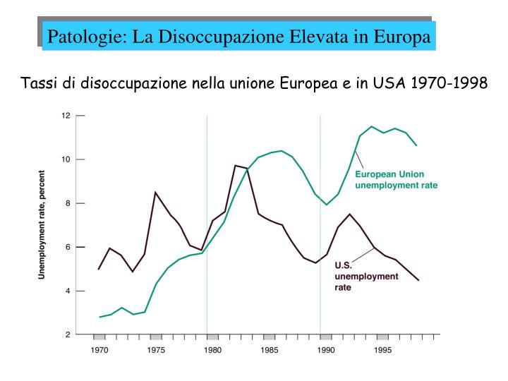Patologie: La Disoccupazione Elevata in Europa