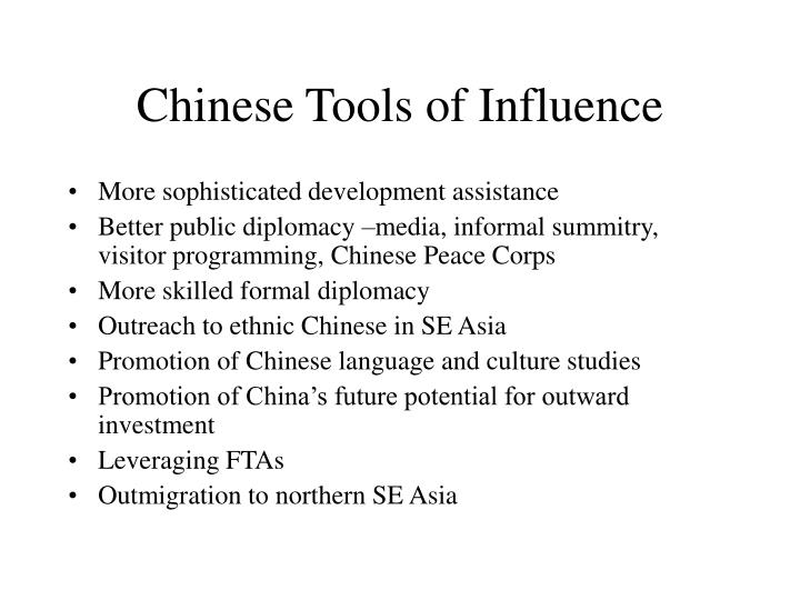 Chinese tools of influence