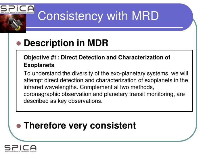 Consistency with MRD