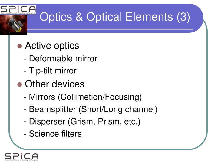 Optics & Optical Elements (3)