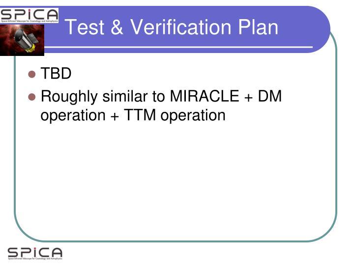 Test & Verification Plan