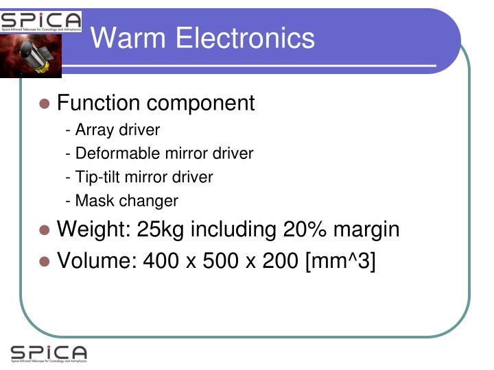 Warm Electronics