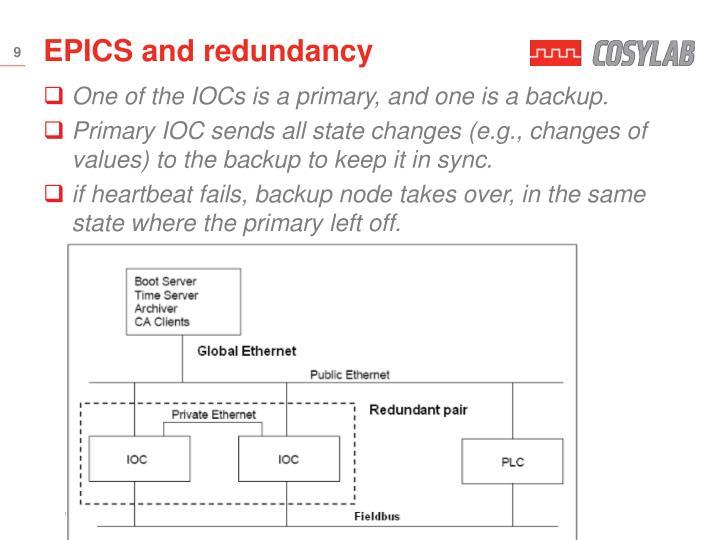 EPICS and redundancy