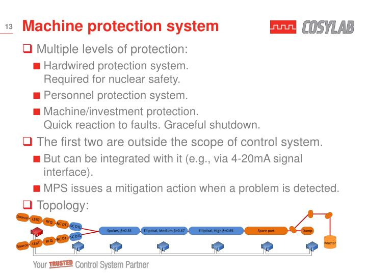 Machine protection system