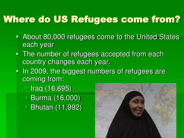 Where do US Refugees come from?