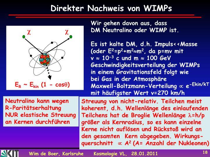 Direkter Nachweis von WIMPs