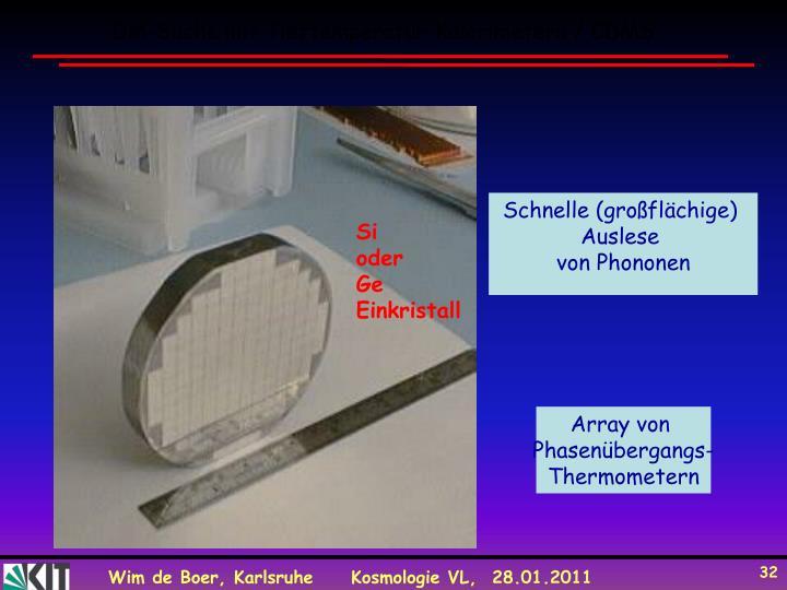 DM-Suche mit Tieftemperatur-Kalorimetern / CDMS