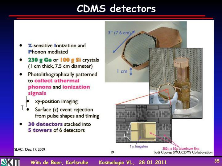 CDMS detectors
