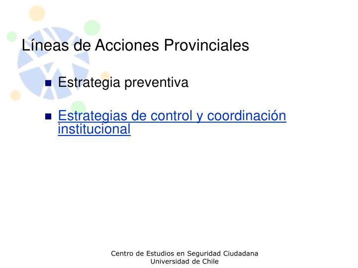 Líneas de Acciones Provinciales