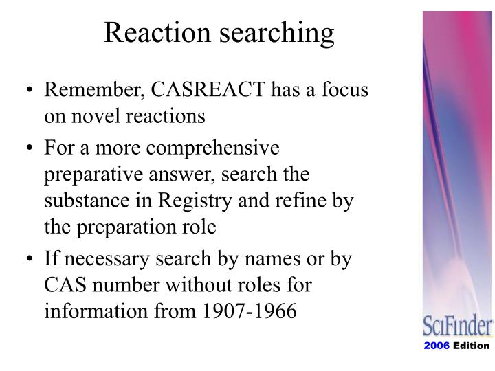 Reaction searching
