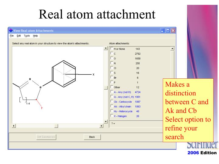 Real atom attachment