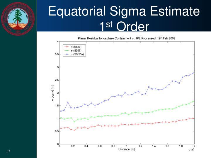 Equatorial Sigma Estimate