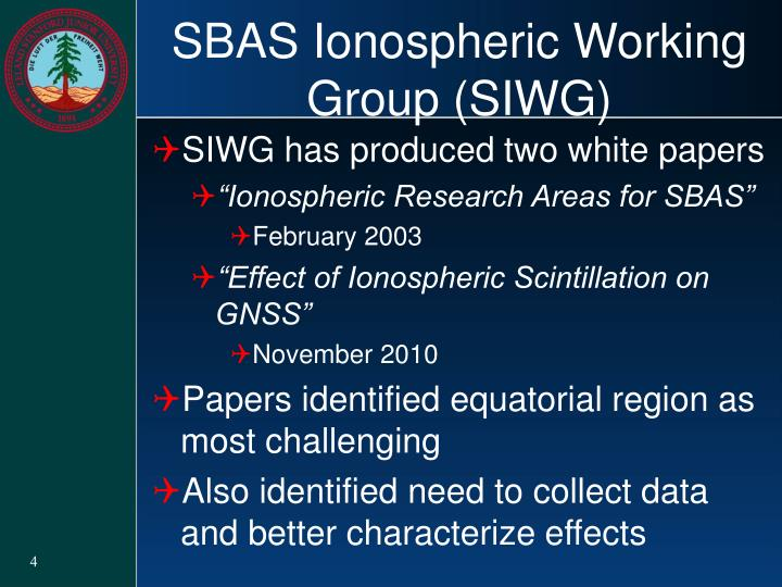 SBAS Ionospheric Working Group (SIWG)