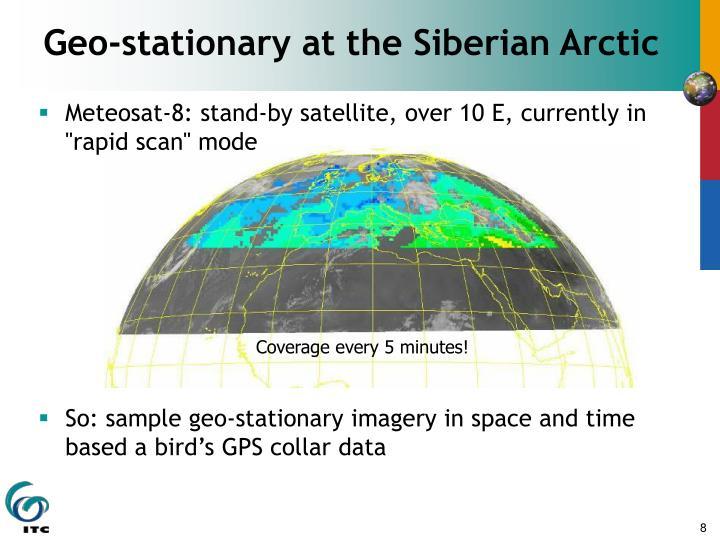 Geo-stationary at the Siberian Arctic