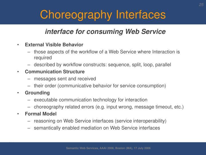 Choreography Interfaces
