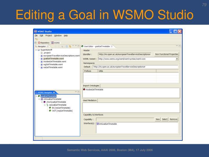 Editing a Goal in WSMO Studio