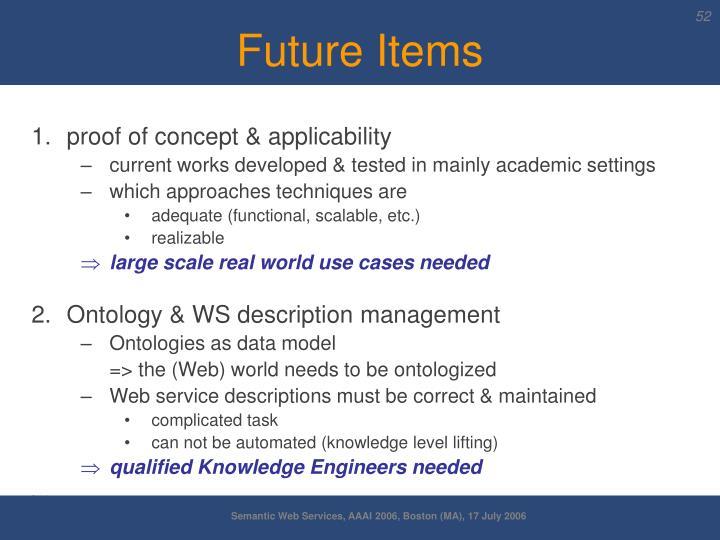 Future Items