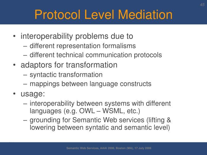 Protocol Level Mediation