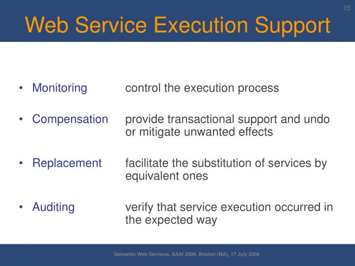 Web Service Execution Support