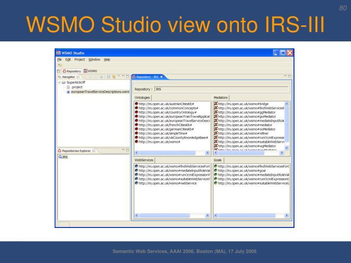 WSMO Studio view onto IRS-III