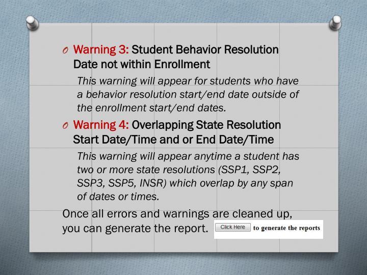 Warning 3: