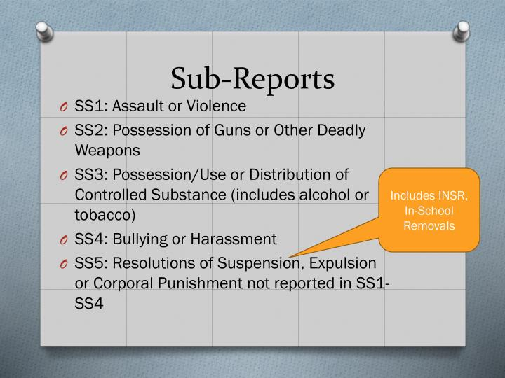 Sub-Reports