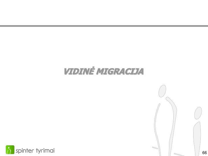 VIDINĖ MIGRACIJA