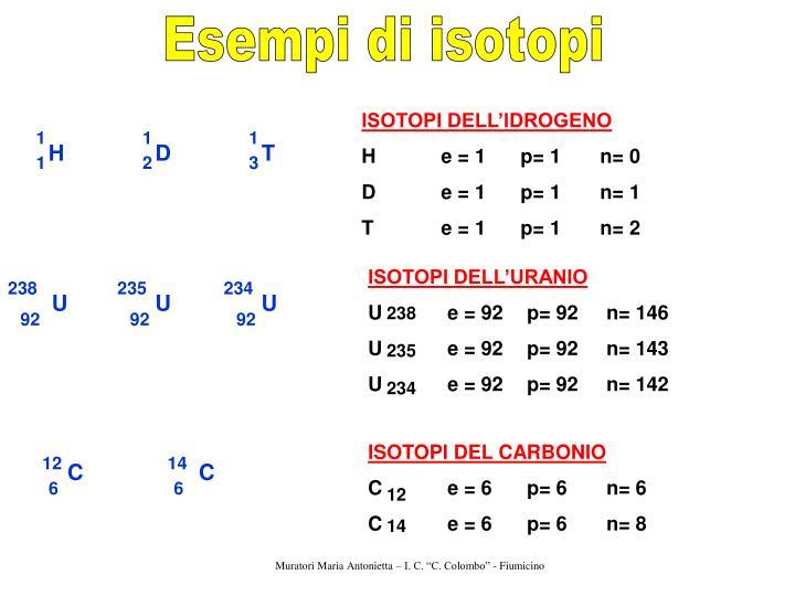Esempi di isotopi