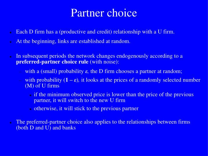 Partner choice