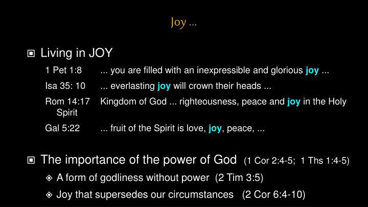 Joy ...