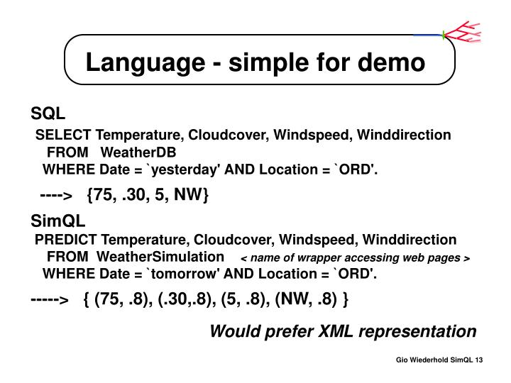 Language - simple for demo