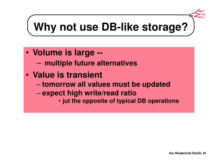 Why not use DB-like storage?