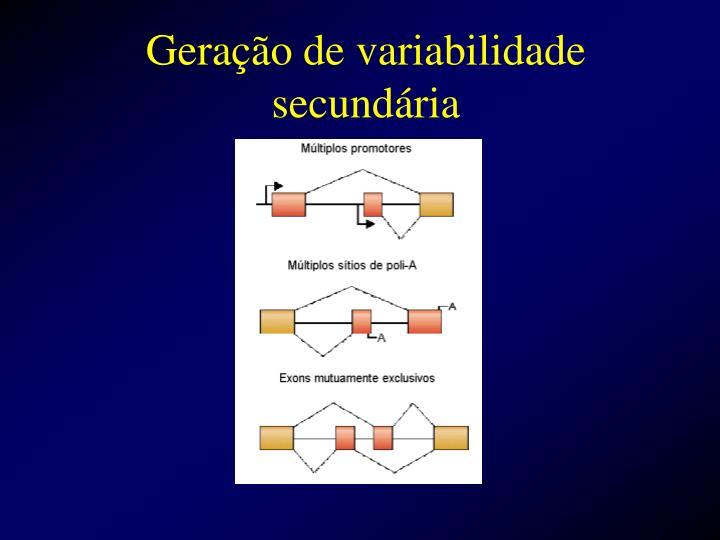 Geração de variabilidade secundária