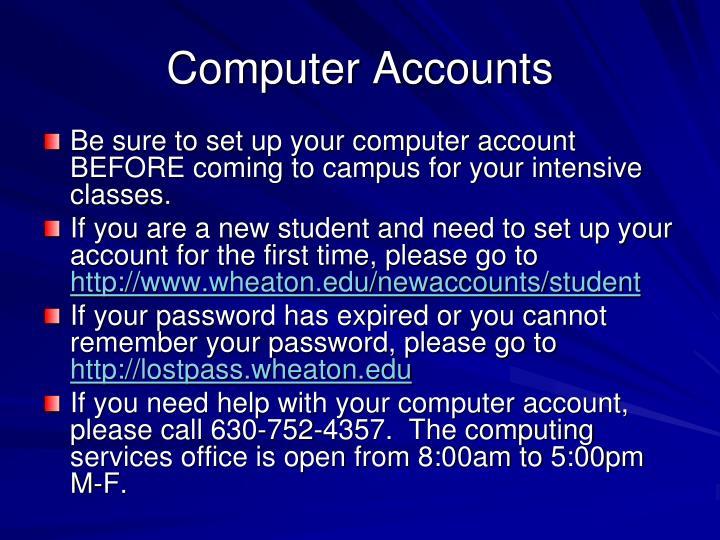 Computer Accounts