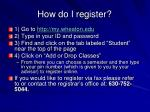 how do i register