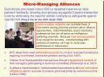 micro managing alliances