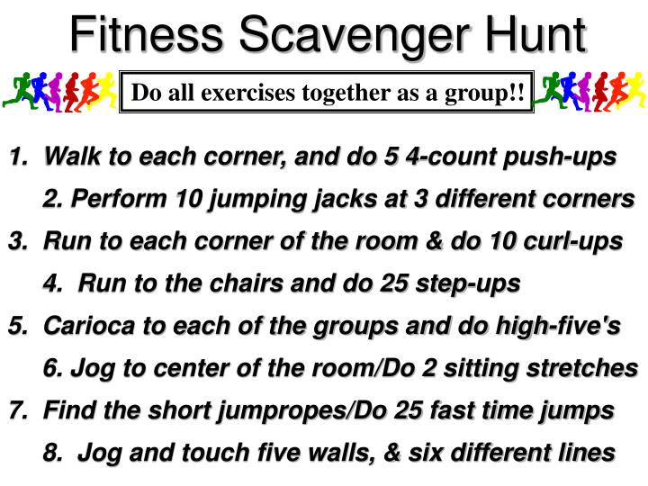 Fitness Scavenger Hunt