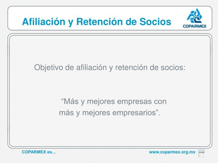 Afiliación y Retención de Socios