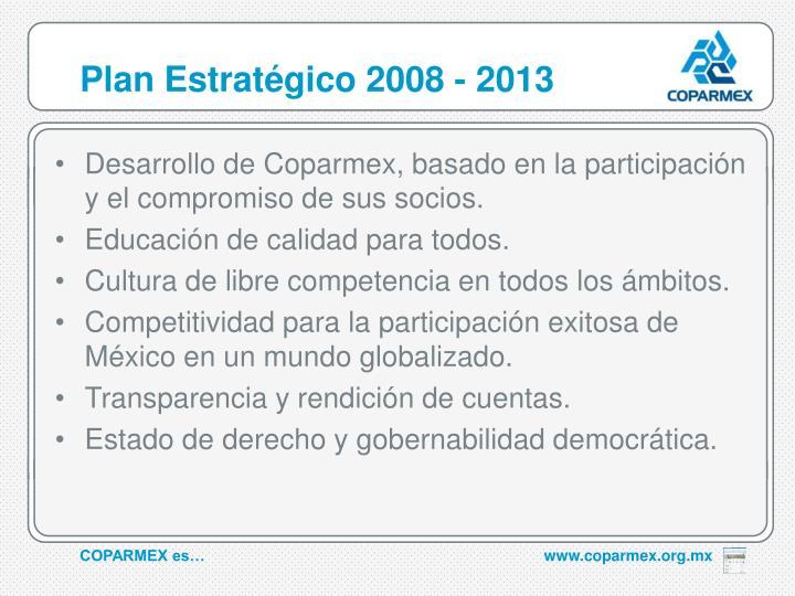 Plan Estratégico 2008 - 2013