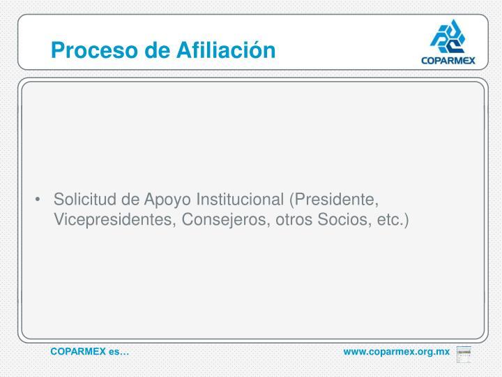 Proceso de Afiliación