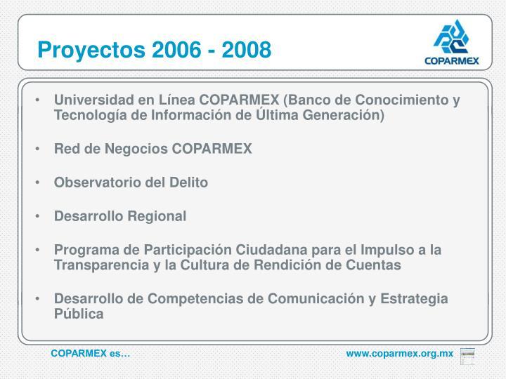 Proyectos 2006 - 2008
