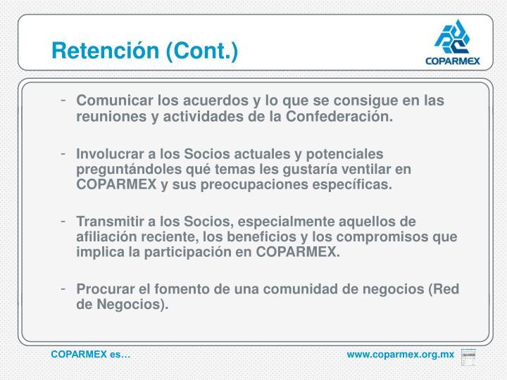 Retención (Cont.)