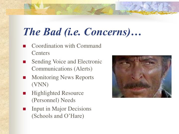 The Bad (i.e. Concerns)…