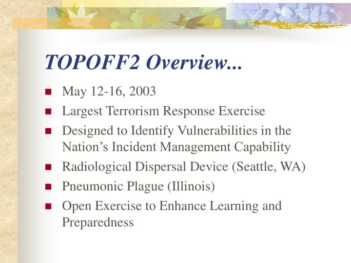 Topoff2 overview