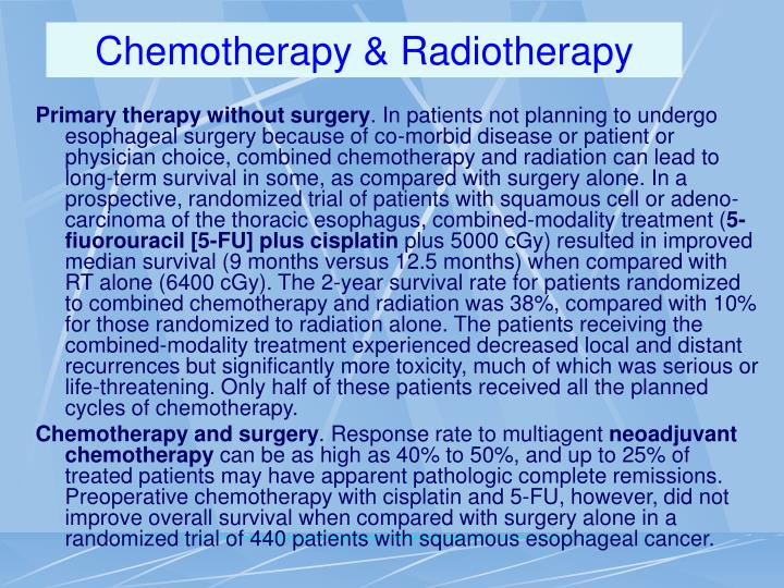 Chemotherapy & Radiotherapy