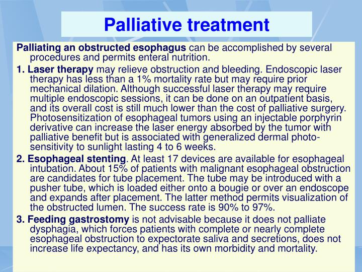 Palliative treatment